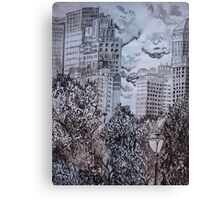 City from Central Park Canvas Print