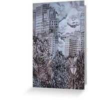 City from Central Park Greeting Card