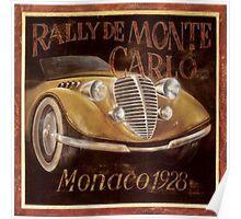 Vintage Car - Gold Poster