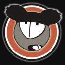 rubber udder ears logo roundel by dennis william gaylor