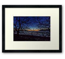 Dawn at Kerkini's Lake Wetlands Framed Print