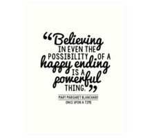 Happy Ending - Mary Margaret Art Print