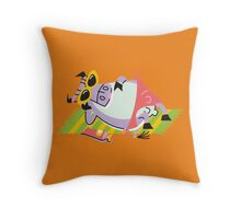 Cool Cow On The Beach!!! Throw Pillow