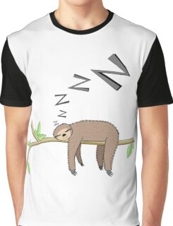 Sleeping sloth Graphic T-Shirt