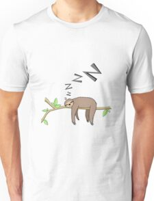 Sleeping sloth Unisex T-Shirt