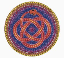 Red Ouroboros Celtic Snake Kids Clothes