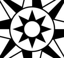 Compass rose, black and white Sticker