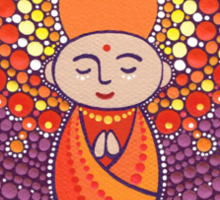 Jizo Meditating upon a Ruby Lotus Sticker