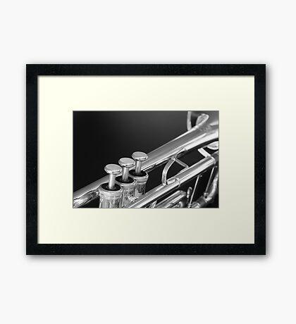 Trumpet close up Framed Print