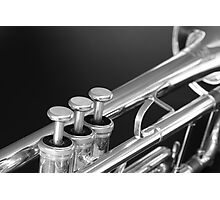 Trumpet close up Photographic Print