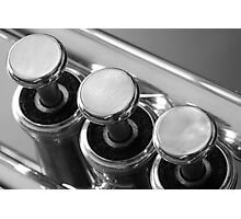 Trumpet Valves Photographic Print
