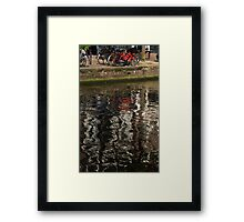 The Red Amsterdam Bicycle   Framed Print