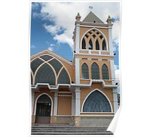 Church Steeple in Ibarra Poster