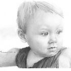 Baby girl drawing by Mike Theuer