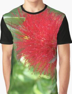 Beautiful Bottle Brush Flower With Garden Background Graphic T-Shirt