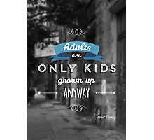 Disney - Quote Photographic Print