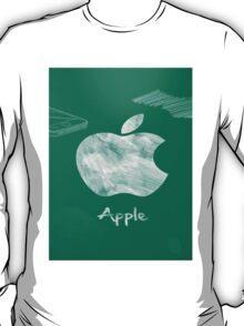 Apple logo white green T-Shirt