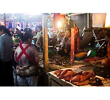 Markets at Siem Reap, Cambodia. Photographic Print
