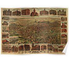 1891 Los Angeles, California Vintage Map Poster