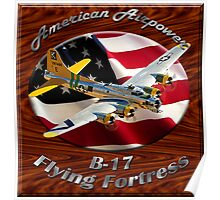 B-17 Flying Fortress American Airpower Poster