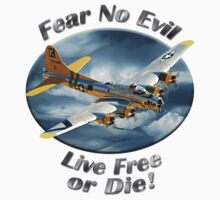 B-17 Flying Fortress Fear No Evil by hotcarshirts