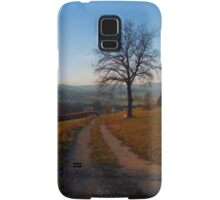 Tree, trail and indian summer evening | landscape photography Samsung Galaxy Case/Skin