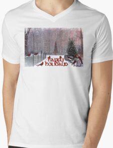 Happy Holidays Mens V-Neck T-Shirt