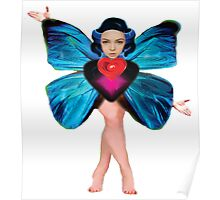 Butterfly Lady / white background Poster