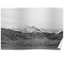 December 16th Twin Peak Sunrise BW View Poster