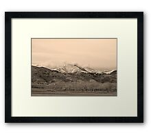 December 16th Twin Peak Sunrise Sepia View Framed Print