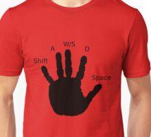 Gamer Hand; WASD Unisex T-Shirt