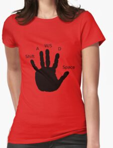 Gamer Hand; WASD Womens Fitted T-Shirt