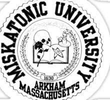 Miskatonic University (Black version) Sticker