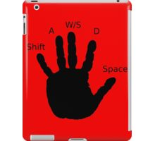 Gamer Hand; WASD iPad Case/Skin