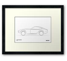 Design Lines - Toyota 2000GT Framed Print