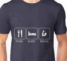 Food Sleep Books Unisex T-Shirt