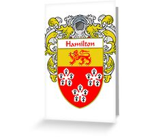 Hamilton Coat of Arms/Family Crest Greeting Card