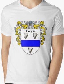 Harper Coat of Arms/Family Crest Mens V-Neck T-Shirt