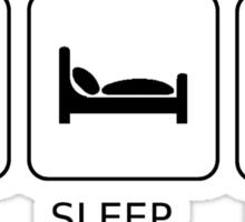 Food Sleep Books Sticker
