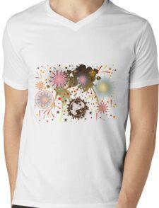 Fireworks Mens V-Neck T-Shirt