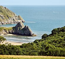 Three Cliffs Bay by Jon James Photography