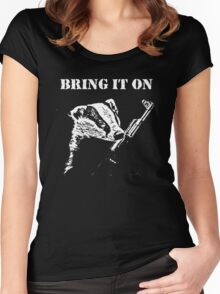 Badger Fights Back (safe) Women's Fitted Scoop T-Shirt