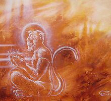 Hanuman - from ape to angel by Leo Plaw