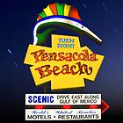Pensacola Beach Sign and Stars by Greg Riegler