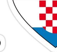 I ♥ CROATIA Sticker