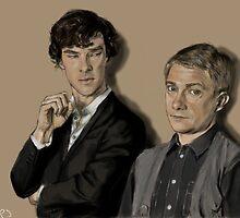 Sherlock and John by WillTPJ