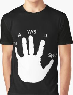 Gamer Hand; WASD Graphic T-Shirt