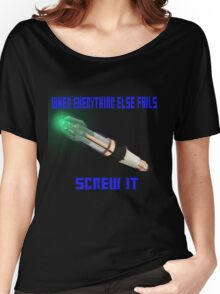 Doctor Who Sonic Screwdriver Motto Women's Relaxed Fit T-Shirt