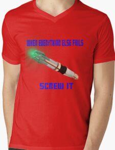 Doctor Who Sonic Screwdriver Motto Mens V-Neck T-Shirt