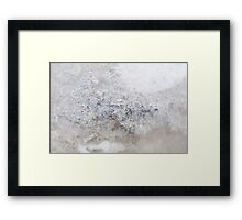 Abstract Ice Framed Print